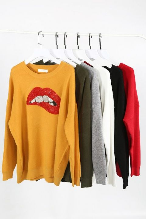 Lexy Diamanté Lips Jumpers